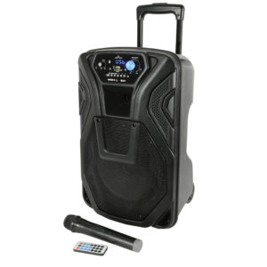 QTX Busker 10 Rechargeable Battery Powered Portable PA inc/Wireless Microphone/Bluetooth