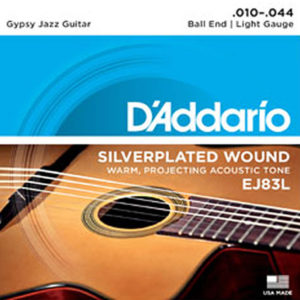 D'Addario EJ83L Gypsy Jazz Ball End Light 10-44