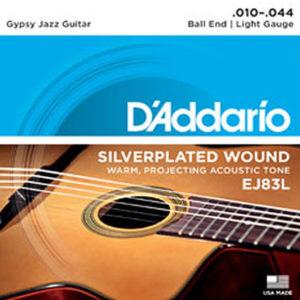 D'Addario EJ83L Gypsy Jazz Ball End Light 10-44
