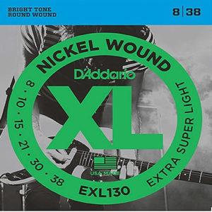 D'Addario EXL130 Nickel Wound, Extra-Super Light, 8-38