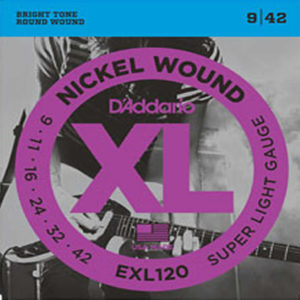 D'Addario EXL120 Nickel Wound, Super Light, 9-42