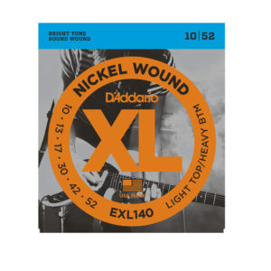 D'Addario EXL140 Nickel Wound 10-52 Light Top/Heavy Bottom