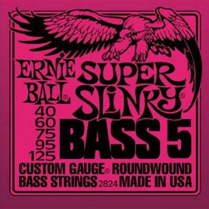 Ernie Ball Super Slinky Bass 5 Nickel Wound Bass Strings 40-125
