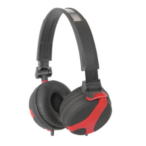 QTX Sound QX40 Stereo Headphones (Red)