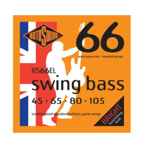 Rotosound RS66EL Extra Long Scale Stainless Steel Roundwound Bass Strings 45-105