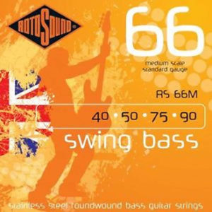Rotosound RS66M Stainless Steel Bass Strings Medium Scale 40-90